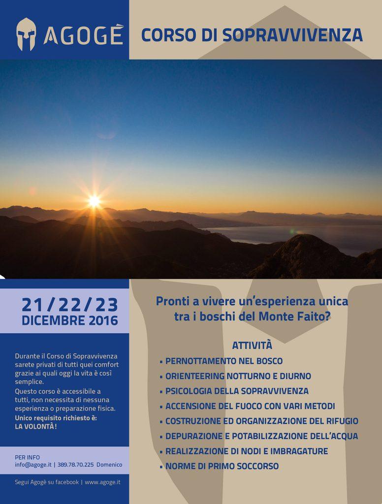 Corso di sopravvivenza - Dicembre 2016